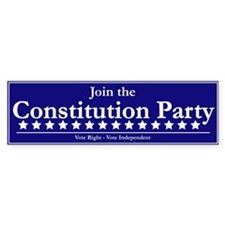 Constitution Party Bumper Bumper Sticker