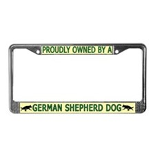 Proudly Owned German Shepherd License Plate Frame