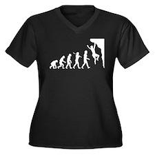 Rock Climber Women's Plus Size V-Neck Dark T-Shirt