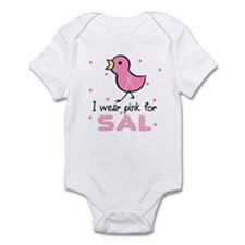I wear pink for Sal Infant Bodysuit