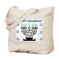 Happy Chanukah Menorah Tote Bag