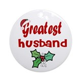 Greatest Husband Ornament (Round)