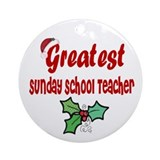 Greatest Sunday School TeacherOrnament (Round)