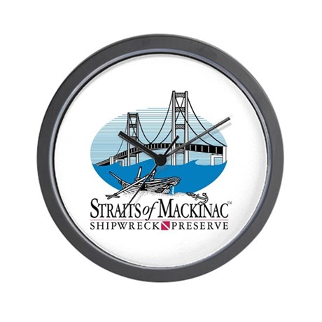 Mackinac Bridge logo Wall Clock