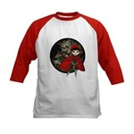 Little Red Capuccine Kids Baseball Jersey