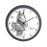 Gypsy Vanner Horse Wall Clock