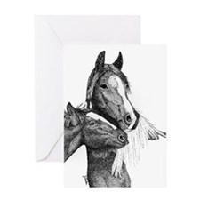 Gypsy Vanner Horse Greeting Card