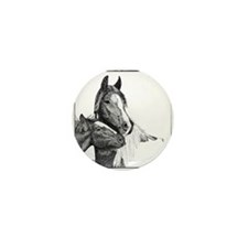Gypsy Vanner Horse Mini Button (10 pack)