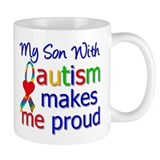 Autism Proud Ribbon Small Mugs