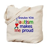 Autism Proud Ribbon Tote Bag