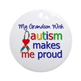 Autism Proud Ribbon Ornament (Round)