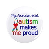"Autism Proud Ribbon 3.5"" Button"