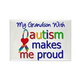 Autism Proud Ribbon Rectangle Magnet (10 pack)