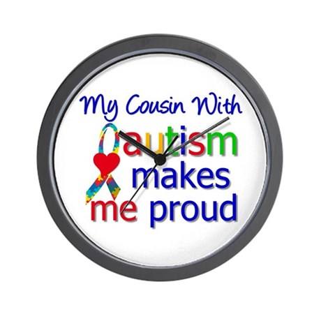 Autism Proud Ribbon Wall Clock