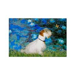 Lilies (#3) / Sealyham (L1) Rectangle Magnet (100