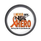 Never Knew A Hero 2 ORANGE (Son-In-Law) Wall Clock