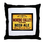 Moreno Valley Beer Throw Pillow