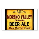 Moreno Valley Beer Rectangle Sticker