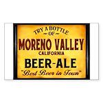 Moreno Valley Beer Rectangle Sticker