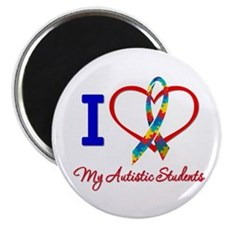 "I Love My Autistic Students 2.25"" Magnet (10 pack)"
