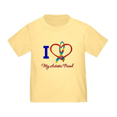 I Love My Autistic Friend Toddler T-Shirt