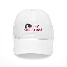 Merry Christmas Holly Baseball Cap