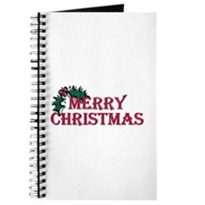Merry Christmas Holly Journal