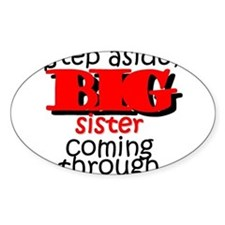 Big Sister Coming Oval Decal