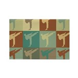 Karate Pop Art Rectangle Magnet (10 pack)