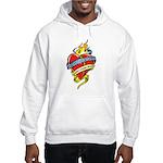 Down Syndrome Tattoo Heart Hooded Sweatshirt