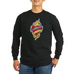Down Syndrome Tattoo Heart Long Sleeve Dark T-Shir