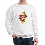 Down Syndrome Tattoo Heart Sweatshirt