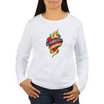 Down Syndrome Tattoo Heart Women's Long Sleeve T-S