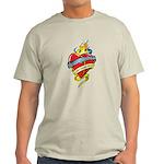 Down Syndrome Tattoo Heart Light T-Shirt