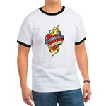 Down Syndrome Tattoo Heart Ringer T