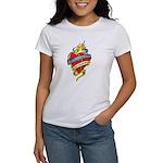 Down Syndrome Tattoo Heart Women's T-Shirt