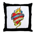 Down Syndrome Tattoo Heart Throw Pillow