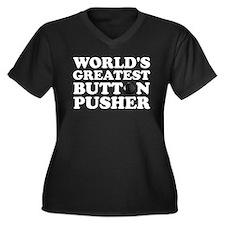 WTD: World's Greatest Button Women's Plus Size V-N