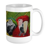 Cute Greenwing macaw Mug