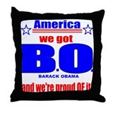 Barack Obama Victory Throw Pillow
