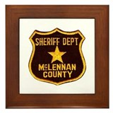 McLennan County Sheriff Framed Tile