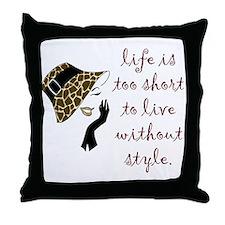 Funny Fashion Throw Pillow