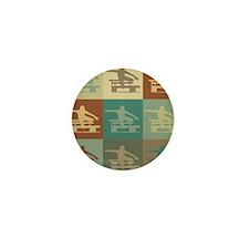 Hurdling Pop Art Mini Button (10 pack)