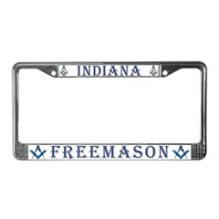 Indiana Masons License Plate Frame