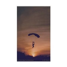 Sticker with Sunset Skydiver