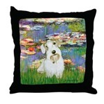 Lilies (#2)/Sealyham L2 Throw Pillow