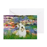 Lilies (#2)/Sealyham L2 Greeting Cards (Pk of 10)
