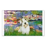 Lilies (#2)/Sealyham L2 Sticker (Rectangle 50 pk)