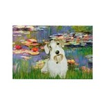 Lilies (#2)/Sealyham L2 Rectangle Magnet (10 pack)