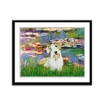 Lilies (#2)/Sealyham L2 Framed Panel Print